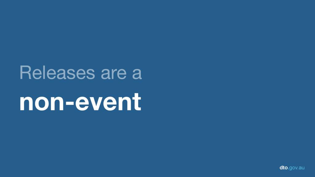 dto.gov.au Releases are a   non-event