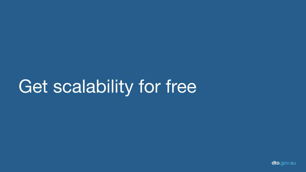 dto.gov.au Get scalability for free