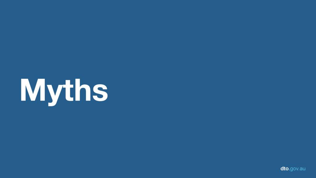 dto.gov.au Myths