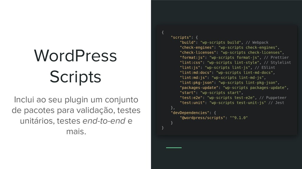 WordPress Scripts Inclui ao seu plugin um conju...