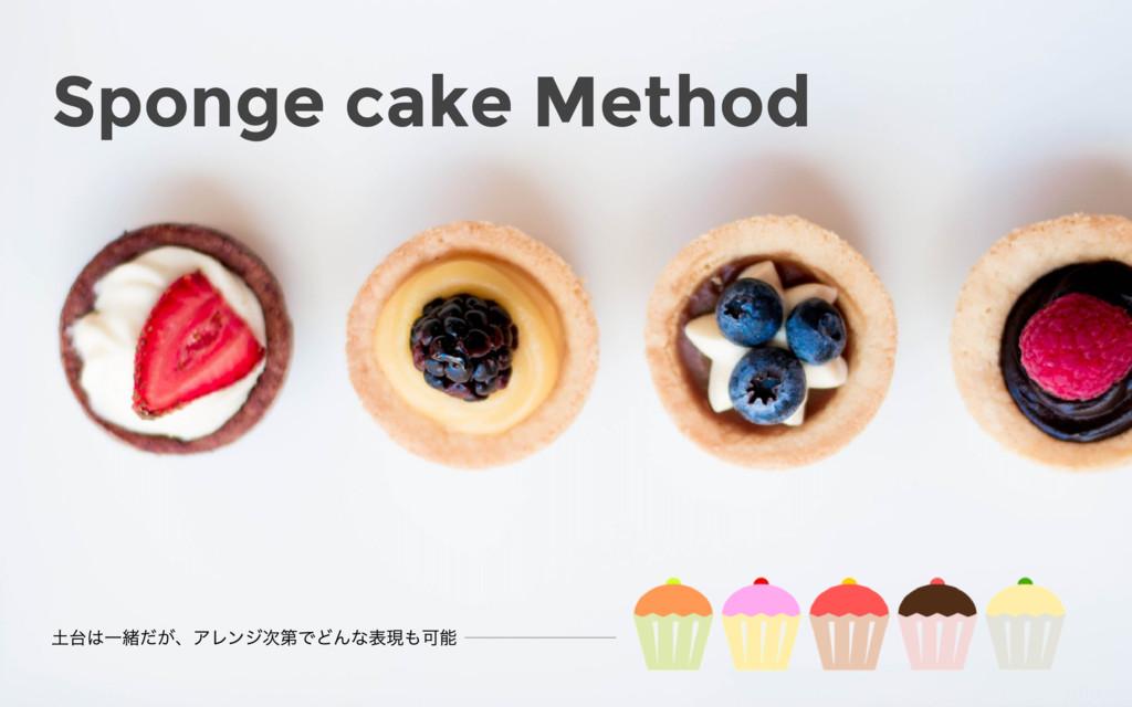 Sponge cake Method