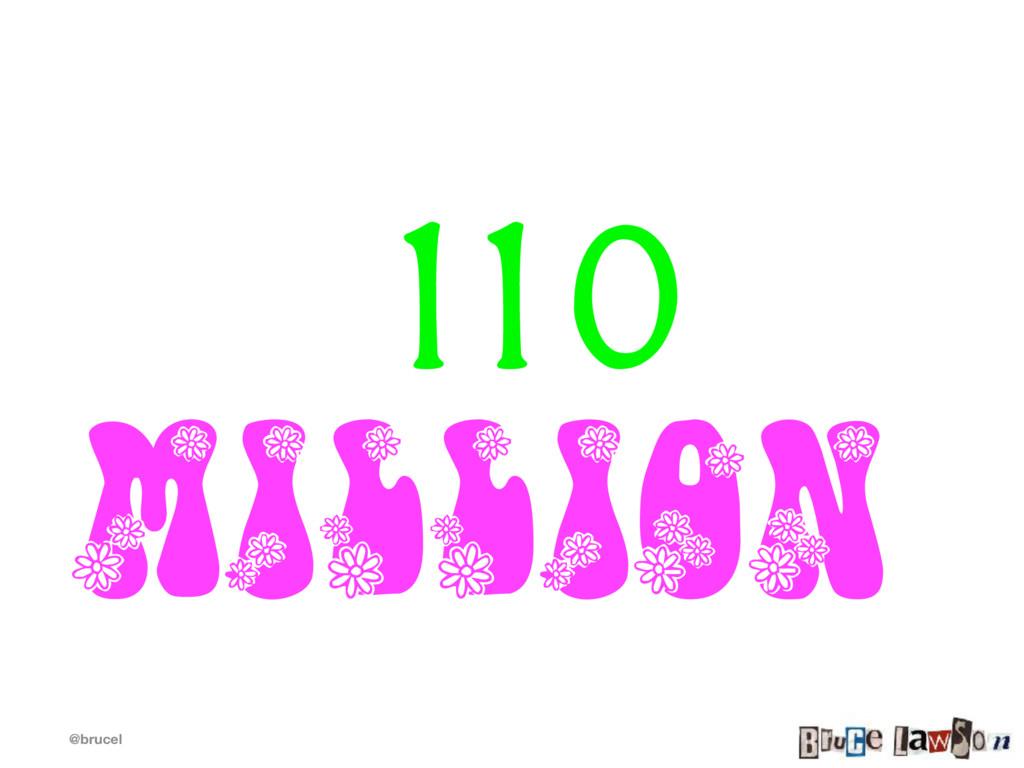 @brucel 110 million