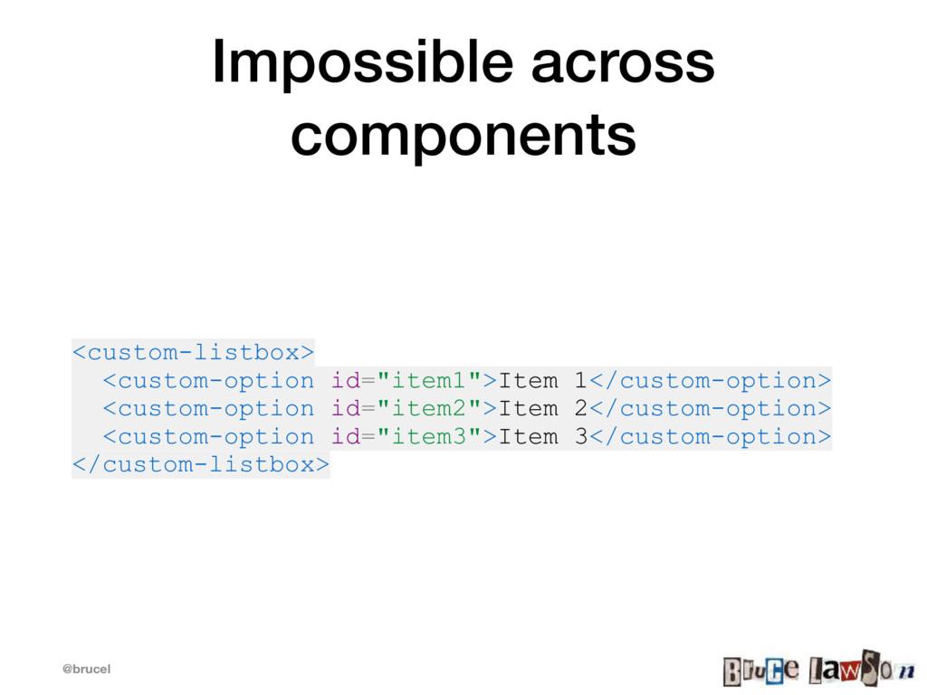@brucel Impossible across components <custom-li...