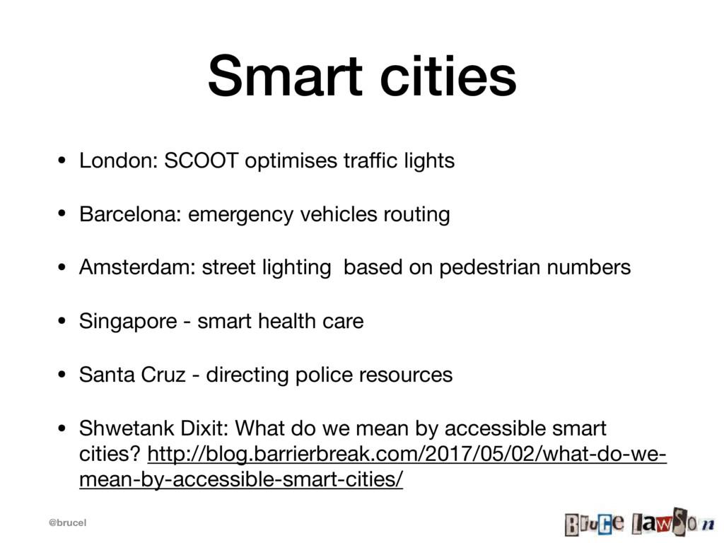 @brucel Smart cities • London: SCOOT optimises ...