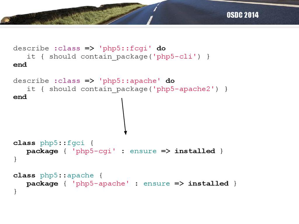 OSDC 2014 describe :class => 'php5::fcgi' do it...