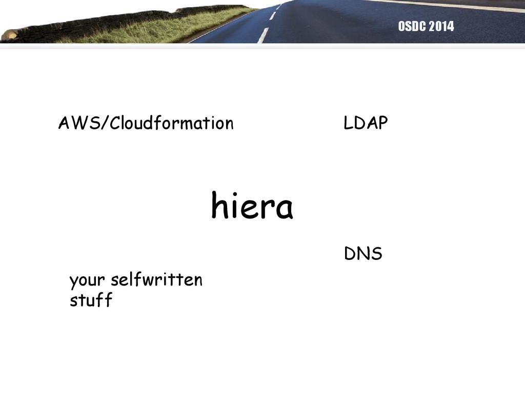 OSDC 2014 hiera AWS/Cloudformation LDAP DNS you...