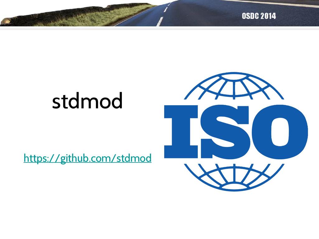 OSDC 2014 stdmod https://github.com/stdmod