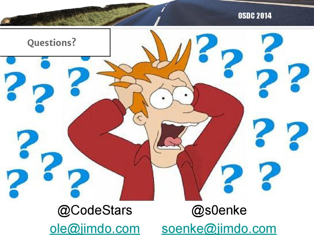 OSDC 2014 @CodeStars ole@jimdo.com @s0enke soen...