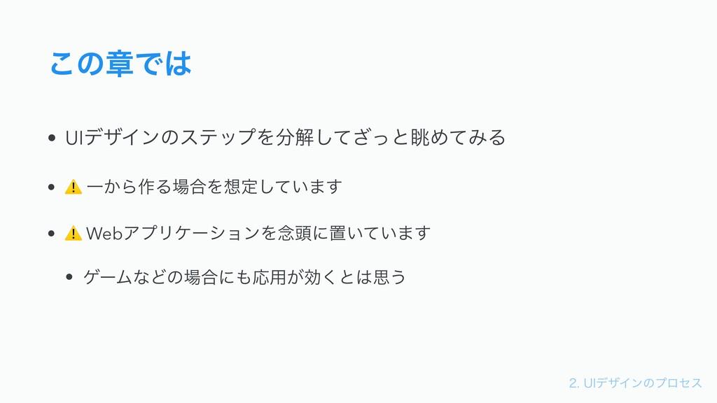 6*σβΠϯͷϓϩηε ͜ͷষͰ • UIσβΠϯͷεςοϓΛղͯͬ͟͠ͱோΊͯΈΔ...