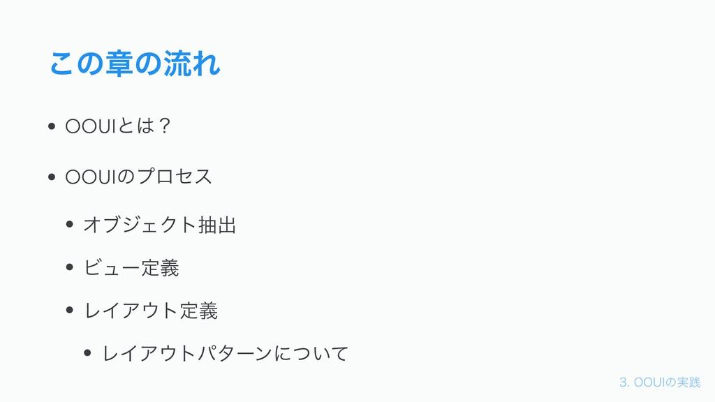 006*ͷ࣮ફ ͜ͷষͷྲྀΕ • OOUIͱʁ • OOUIͷϓϩηε • ΦϒδΣΫ...