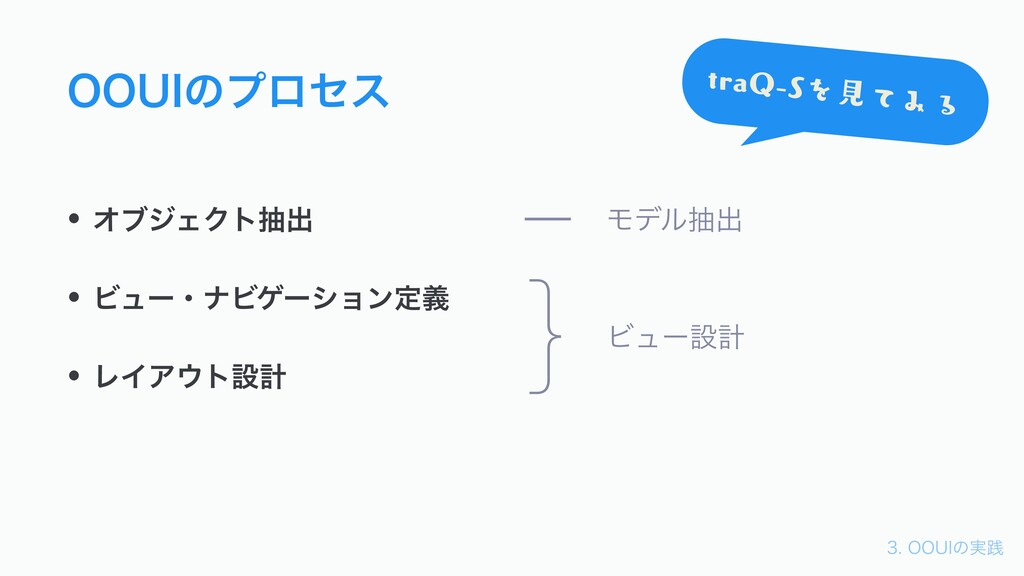 006*ͷ࣮ફ 006*ͷϓϩηε • ΦϒδΣΫτநग़ • ϏϡʔɾφϏήʔγϣϯఆٛ...