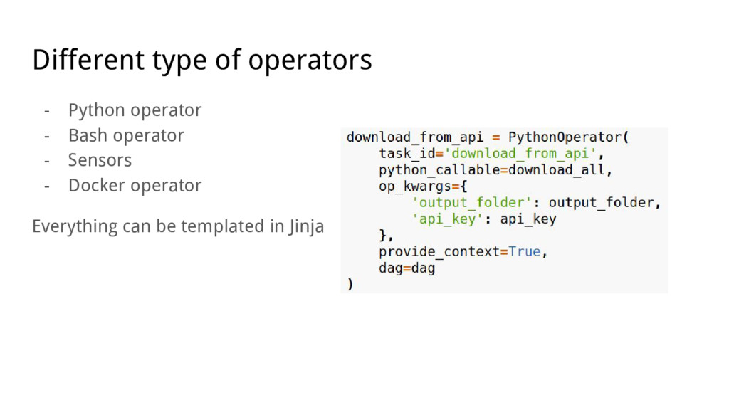 Different type of operators - Python operator -...