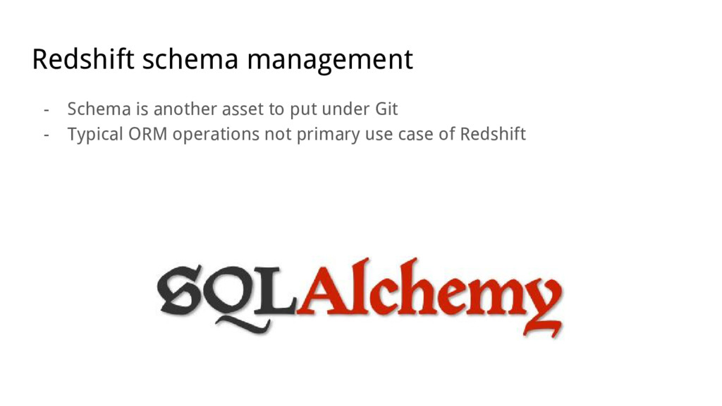 Redshift schema management - Schema is another ...