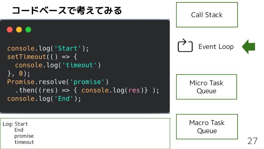 コードベースで考えてみる Call Stack Micro Task Queue Macro ...