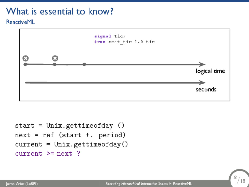 What is essential to know? ReactiveML logical t...