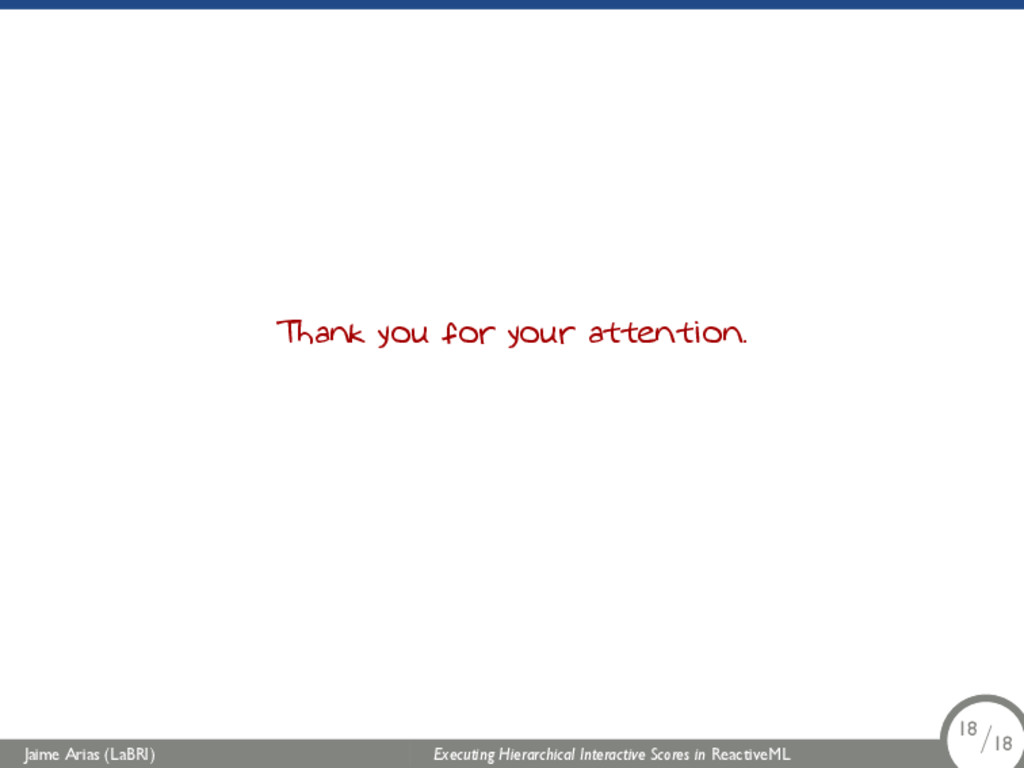 Thank you for your attention. Jaime Arias (LaBR...