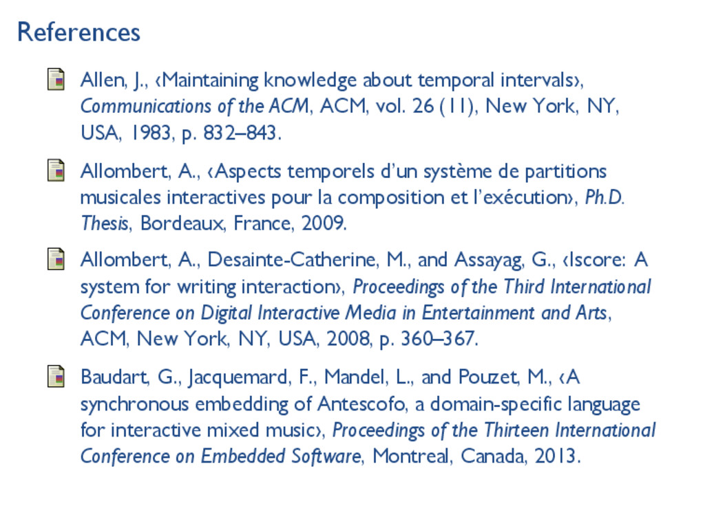 References Allen, J., ‹Maintaining knowledge ab...