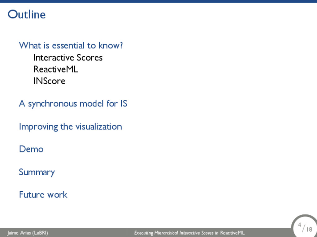 Outline What is essential to know? Interactive ...