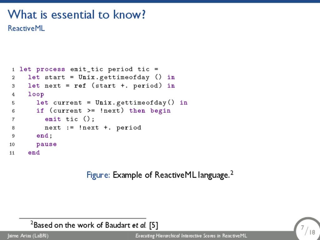 What is essential to know? ReactiveML 1 let pro...