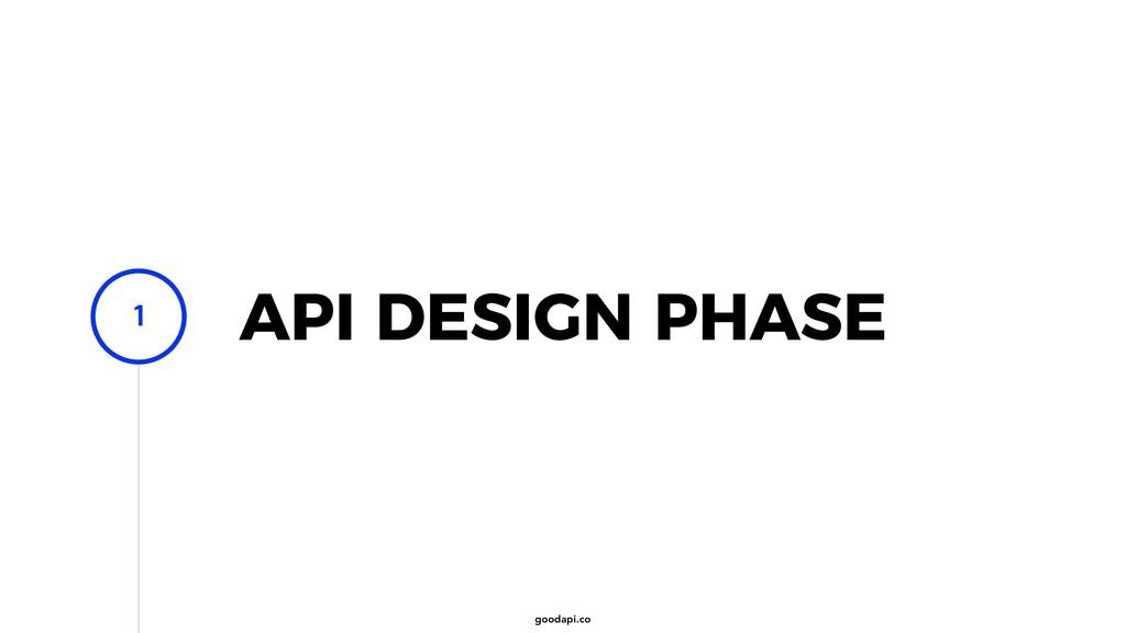 goodapi.co API DESIGN PHASE 1