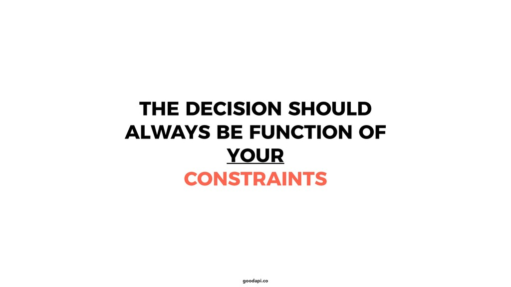 goodapi.co THE DECISION SHOULD ALWAYS BE FUNCTI...