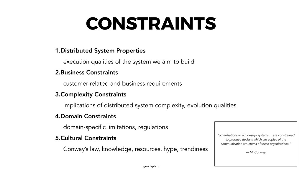 goodapi.co CONSTRAINTS 1.Distributed System Pro...