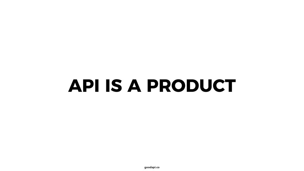 goodapi.co API IS A PRODUCT
