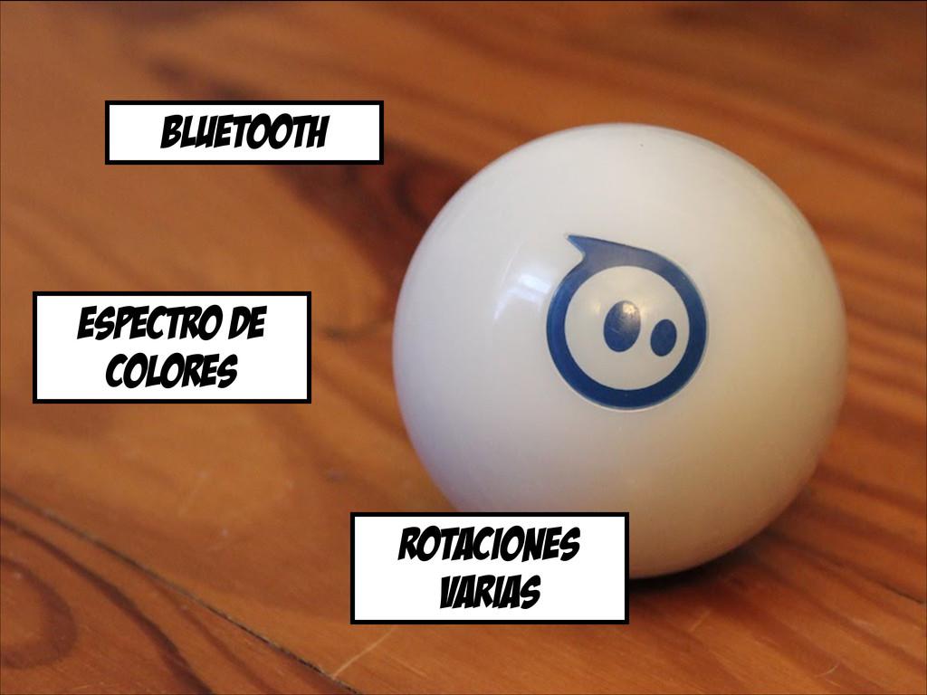 Bluetooth espectro de colores rotaciones varias