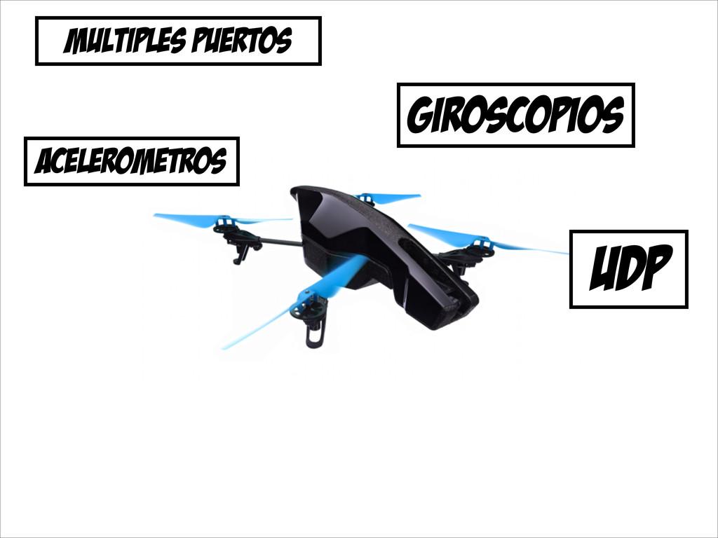 udp MULTIPLES PUERTOS giroscopios acelerometros
