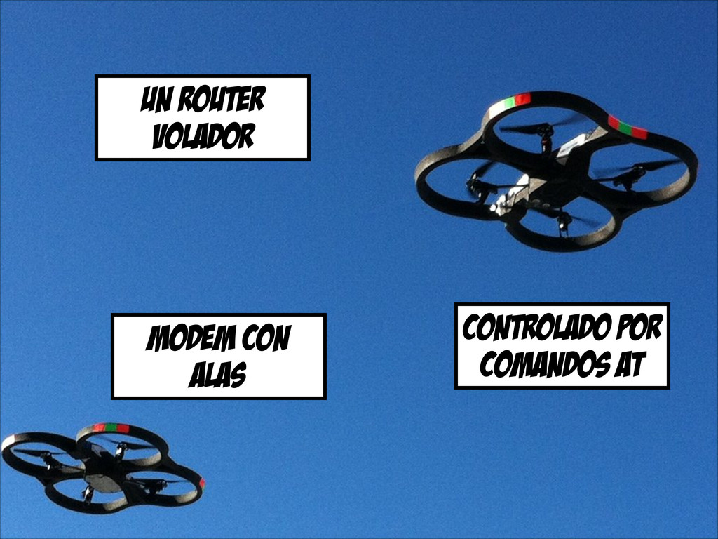 un router volador controlado por comandos at mo...