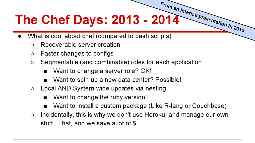 The Chef Days: 2013 - 2014 ● What is cool about...