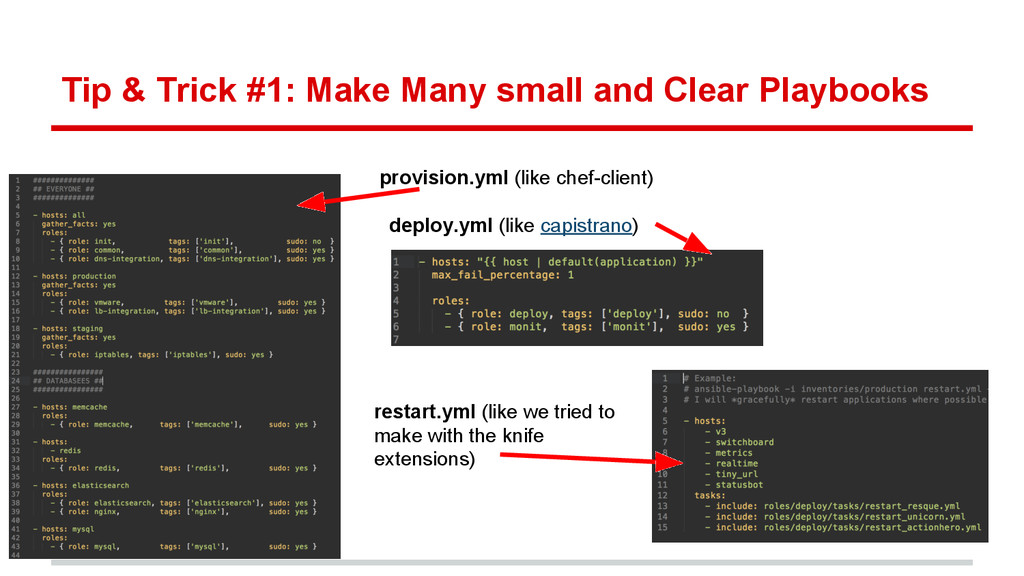 Tip & Trick #1: Make Many small and Clear Playb...