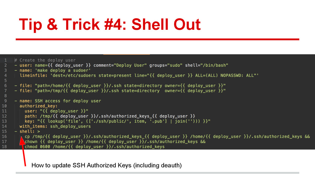 Tip & Trick #4: Shell Out How to update SSH Aut...