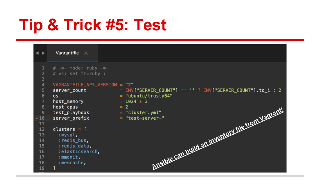 Tip & Trick #5: Test Ansible can build an inven...