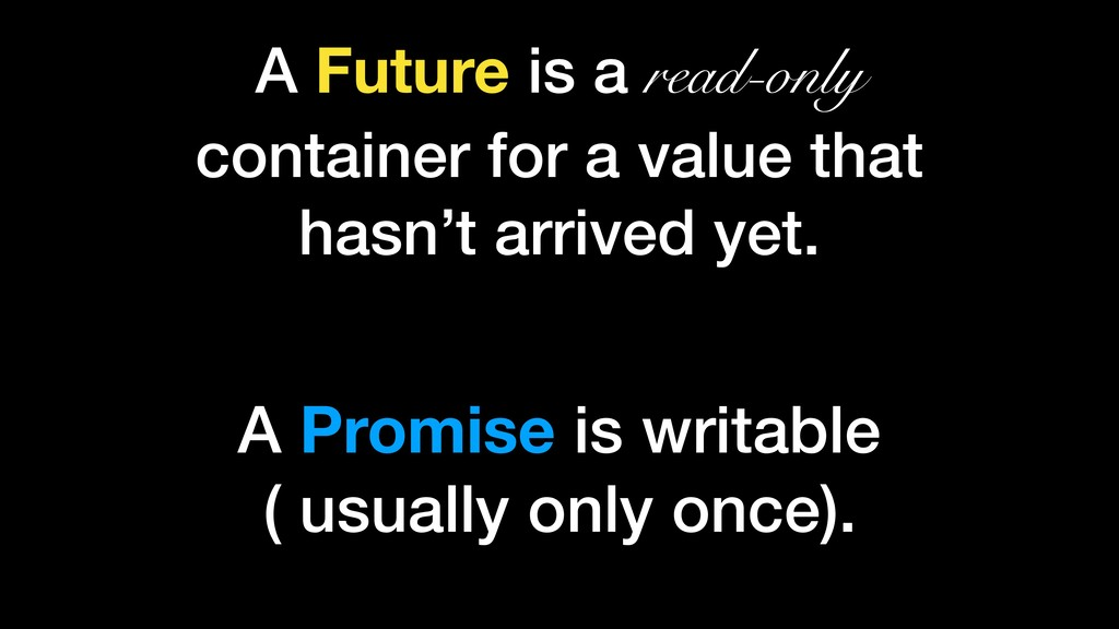 A Future is a read-only container for a value t...