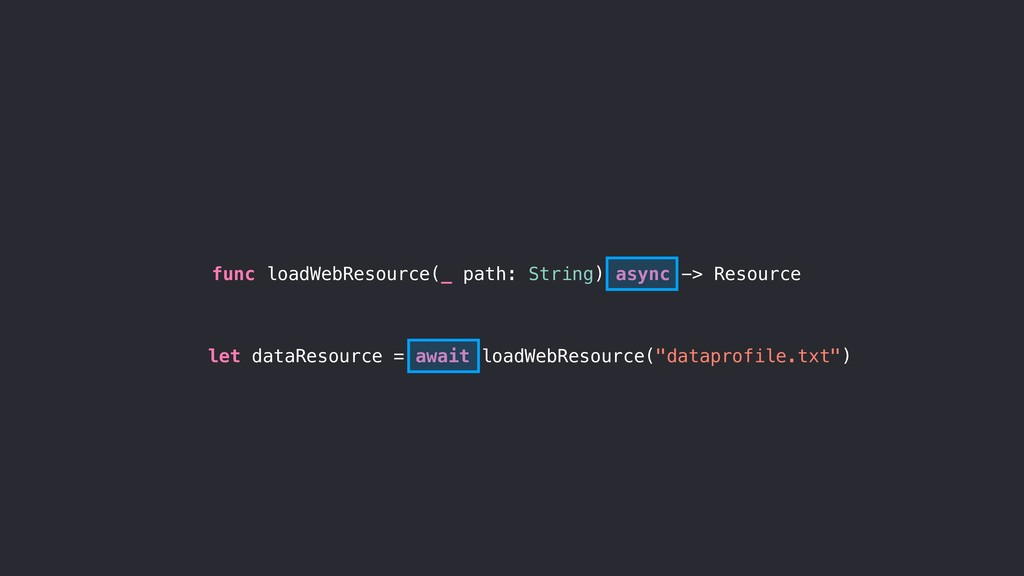func loadWebResource(_ path: String) async -> R...