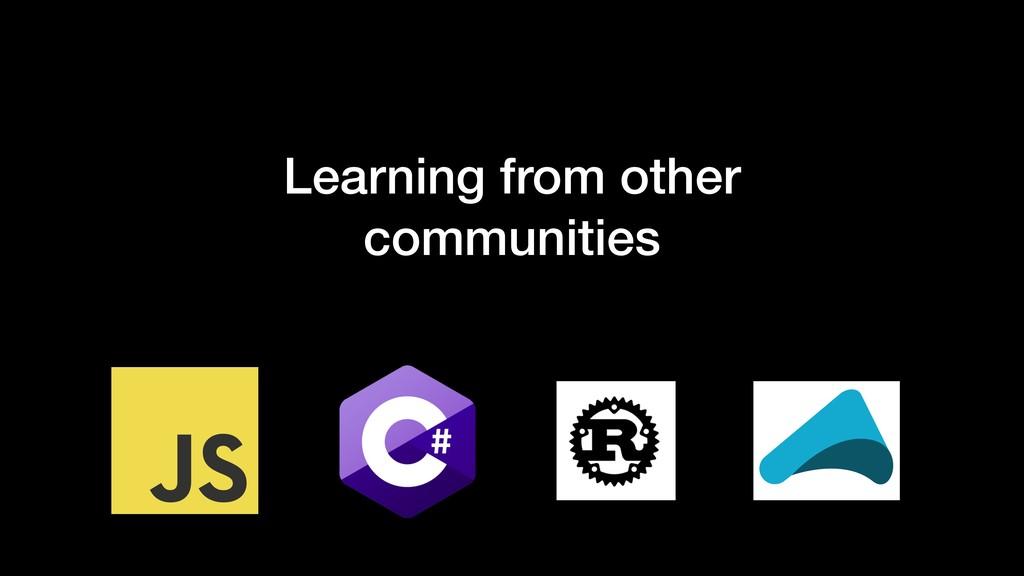 Learning from other communities