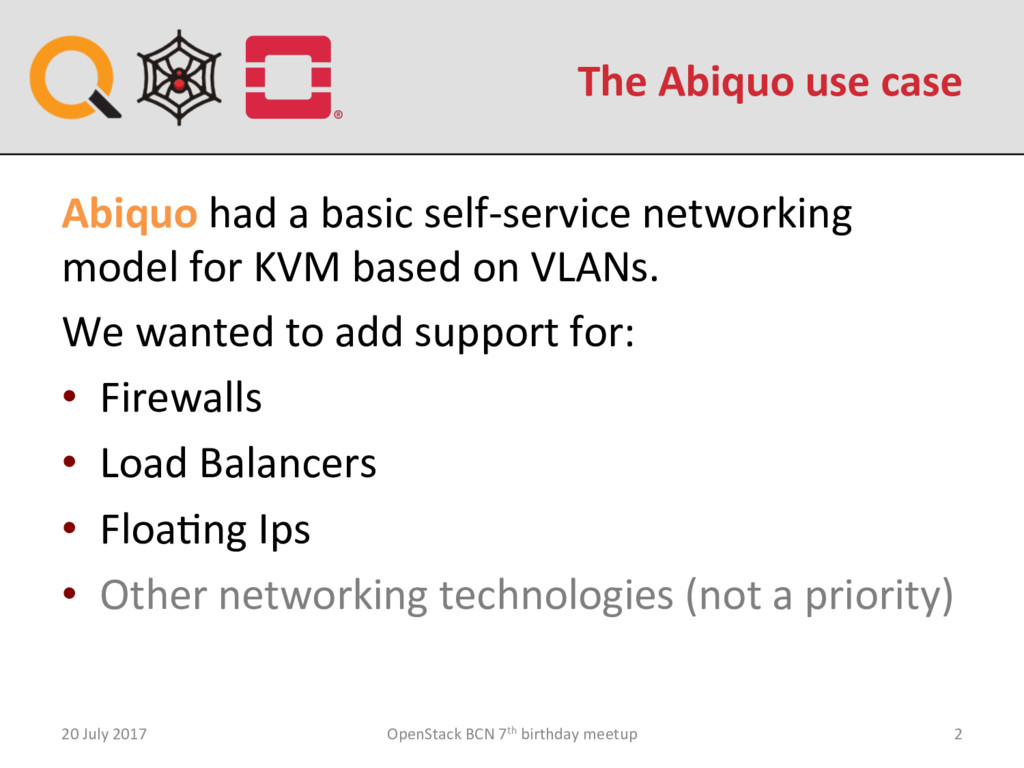 The Abiquo use case 20 July 2017 OpenStack BCN ...