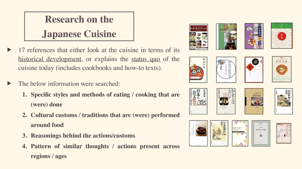 Research on the Japanese Cuisine ▶ 17 reference...