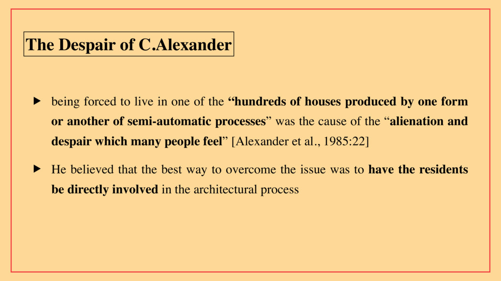 The Despair of C.Alexander ▶ being forced to li...