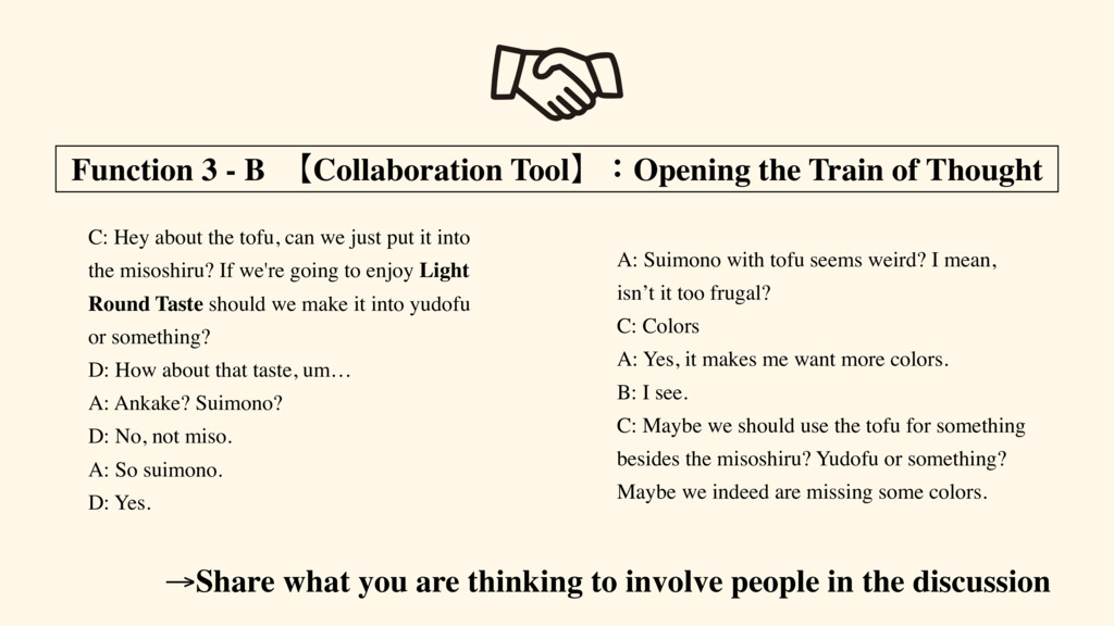 Function 3 - B ʲCollaboration ToolʳɿOpening the...