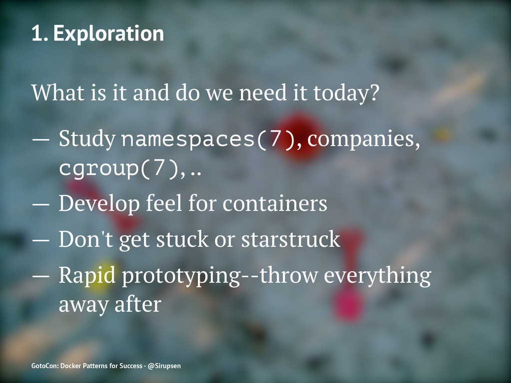 1. Exploration What is it and do we need it tod...