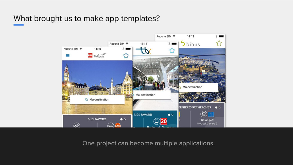 What brought us to make app templates? One proj...