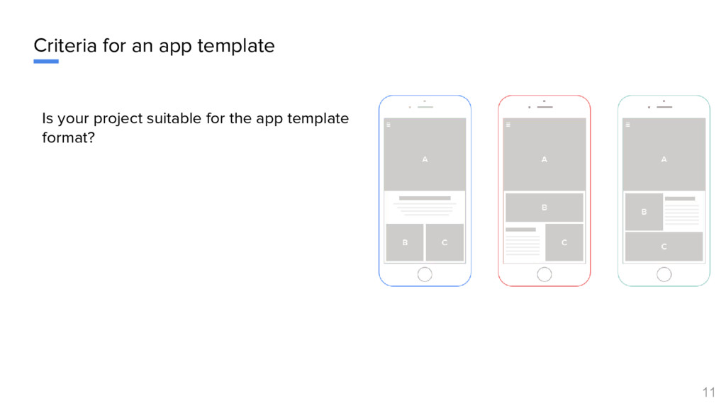 Criteria for an app template Is your project su...