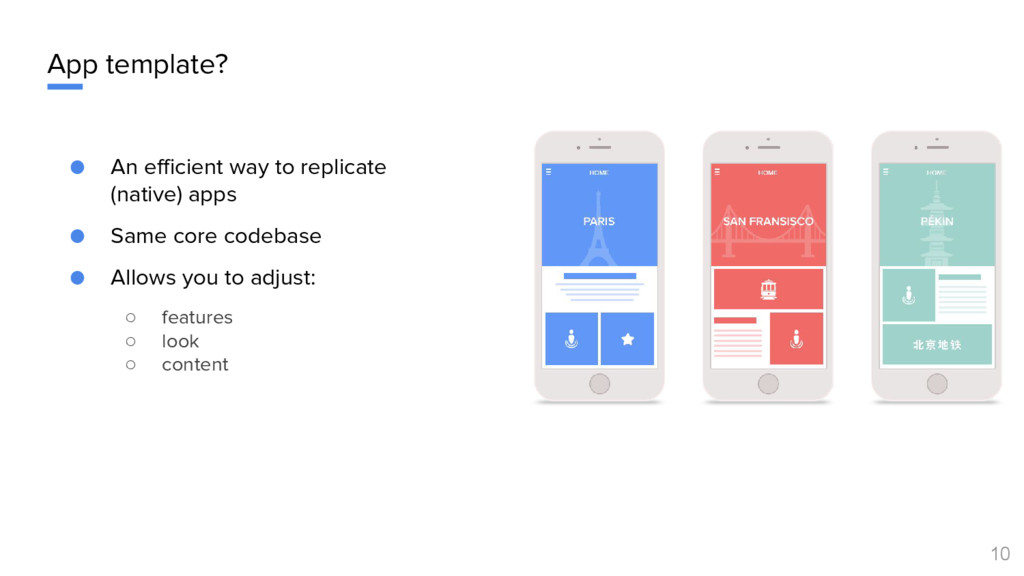 App template? ● An efficient way to replicate (...