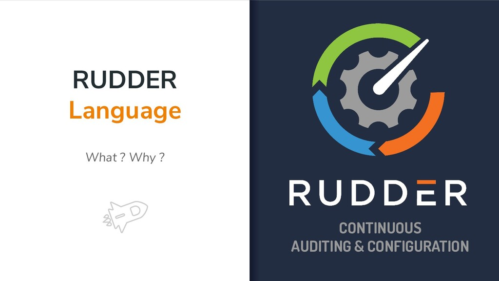 RUDDER Language What ? Why ? CONTINUOUS AUDITIN...