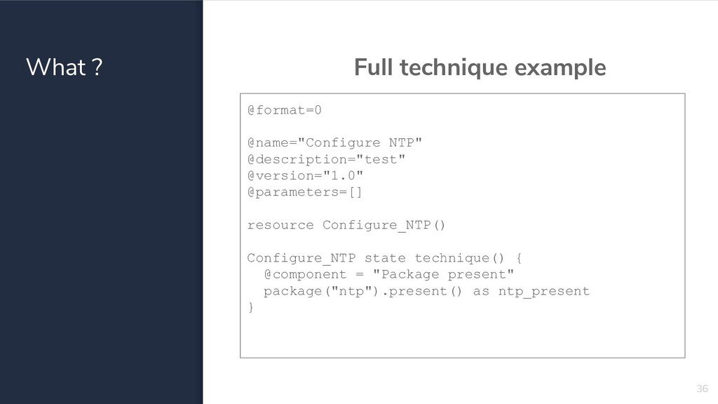 What ? Full technique example 36 @format=0 @nam...