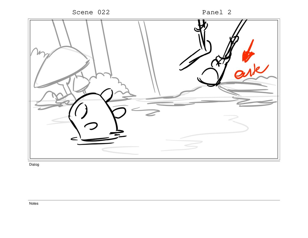 Scene 022 Panel 2 Dialog Notes