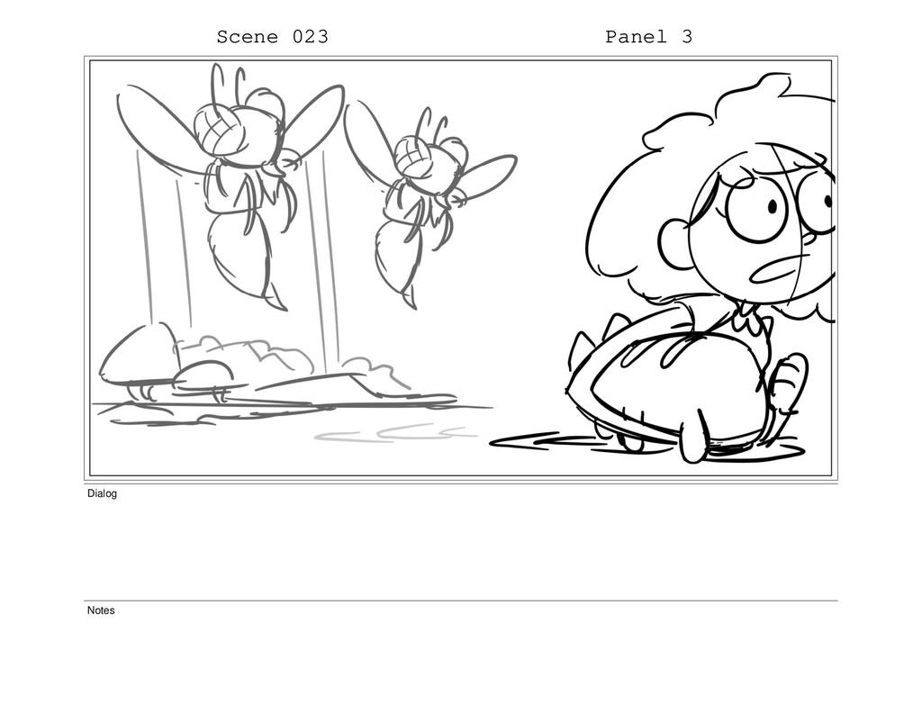 Scene 023 Panel 3 Dialog Notes