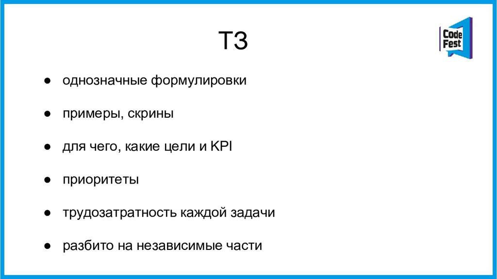ТЗ ● однозначные формулировки ● примеры, скрины...